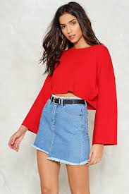 bell it like it is cropped sweater shop clothes at gal