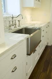 Kitchen Cabinet Hardware Brushed Nickel by Stainless Steel Apron Sink Design Ideas