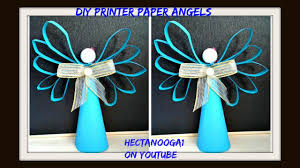 Angels Home Decor by Diy Printer Paper Angel Construction Paper Christmas Ornament