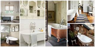 Farmhouse Black White Timber Bathroom by Achieving The Perfect Bathroom With A Clawfoot Tub Home U0026 Garden