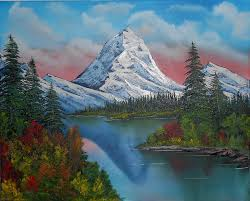 Mountain Landscape Paintings by Snowy Mountain Splendor Painting By Alfred Stringer