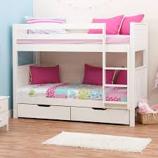 Stompa Classic Kids White Bunk Bed - White bunk beds uk