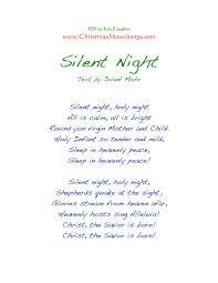 printable lyrics silent night lyrics
