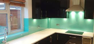 Kitchen Splashback Ideas Uk Aqua Glass Kitchen Splash Back By Uk Splashbacks Homify