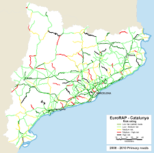 Catalonia Spain Map by Eurorap U2013 Spain Risk Mapping Archive