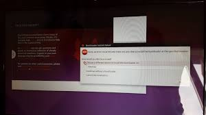 system installation bootloader install failed ask ubuntu