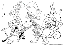 coloring page band coloring pages spongebob squarepants marching