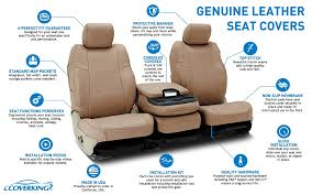 Car Upholstery Installation Coverking Genuine Leather Custom Fit Seat Covers