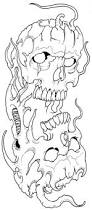 skullz outline 09 by vikingtattoo on deviantart