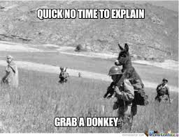 No Time To Explain Meme - donkey meme quick no time to explain grab a donkey picsmine