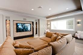 upholsterd over size sectional movie pit couch trends4us com