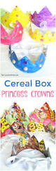 cereal box princess crown kids craft the suburban mom