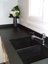 plan de travail cuisine noir pailleté plan de travail granit azur