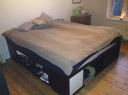 King Size Bed Frame With Storage Underneath Bedroom Ikea Platform Hack Advantages Shelf Fold Up Four