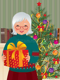 what to get an elderly woman for christmas grandmother and christmas gift stock vector illustration of