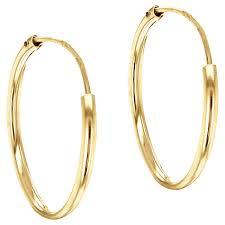 9ct gold hoop earrings buy ibb 9ct gold hoop earrings gold lewis