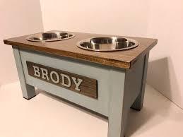 Eat and Bark Dog Bowl Rustic Farmhouse Decor Dog Bowl Stand