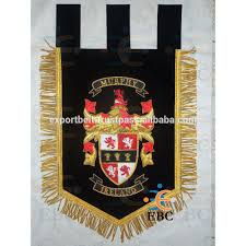 Flag Badges Embroidered Coat Of Arms Family Crest Banners Pennant Flag Pipe Banners Hand