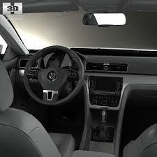 Volkswagen Cc 2014 Interior Volkswagen Passat B7 With Hq Interior 2011 3d Model