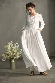 linen clothes for wedding white linen dress maxi dress pleated waist and pintuck dress