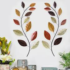 tree branch decorations in the home asense tree leaf metal wall art sculptures home decor life