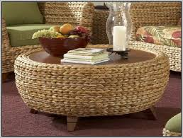 round rattan side table captivating round wicker ottoman coffee table rattan coffee table