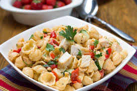 pasta salad chicken u0026 red pesto pasta salad pasta salad with a flavorful kick