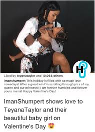 Teyana Taylor Meme - liked by teyanataylor and 10968 others imanshumpert this holiday is