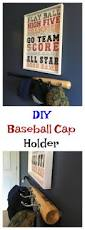 baseball bedroom for boys with diy baseball cap holder made with bat