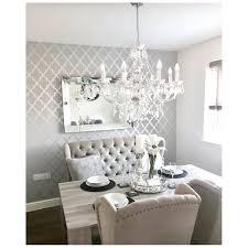 henderson interiors camden trellis wallpaper soft grey silver