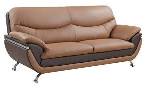 mybktouch leather match sofa in brown global furniture usa
