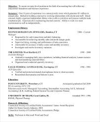 Entry Level Accountant Resume Sample by 20 Accountant Resume Examples Free U0026 Premium Templates