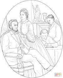 abraham and mary todd lincoln coloring page free printable