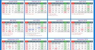 Kalender 2018 Hari Libur Indonesia Kalender Indonesia 2018