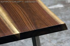 Kitchen Table Desk by Live Edge Table And Furniture Showroom In The Chicago Area