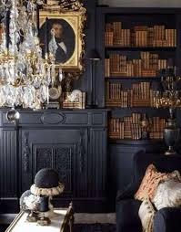 Office Chandelier Interior Design Interesting Gothic Home Office And Library With