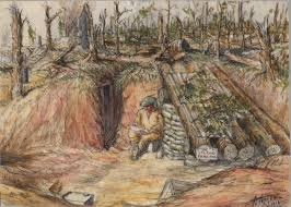 official art an artist u0027s home on the somme canada and the