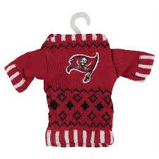 ta bay buccaneers knit sweater ornament oldglory