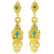 Two Golden Rings Bead Chandelier Vintage U0026 Antique Turquoise Jewelry Rings Necklaces U0026 More For