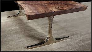 Burl Tables Of The Giant Redwoods - Metal table base designs