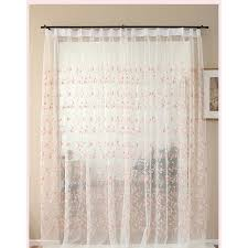 white floral beautiful elegant pinch pleated room divider sheer