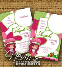 79 best strawberry shortcake birthday party invitations images on