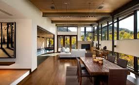 Modern Rustic Living Room Home Planning Ideas - Rustic modern home design