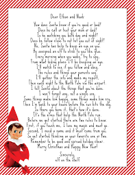elf on the shelf welcome letter google search kid u0027s room