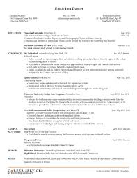 Sample Resume Objectives For Masters Degree by Academic Resume For Graduate Free Resume Example And