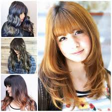 haircuts for girls 2017 trendy long hairstyles with bangs layered haircuts style samba and