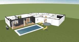 plan de maison en v plain pied 4 chambres plan de maison 150m2 4 avis plan maison plain pied en v 150m178