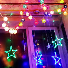Colored Christmas Lights by Decoration Pentagram String Lights 50 Christmas Lights Cool Fairy