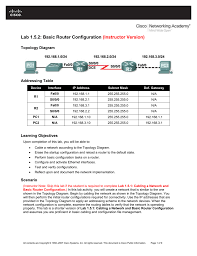 lab 1 5 2 basic router configuration instructor version