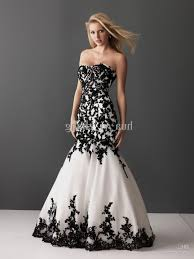 white and black wedding dresses black lace mermaid wedding dresses naf dresses